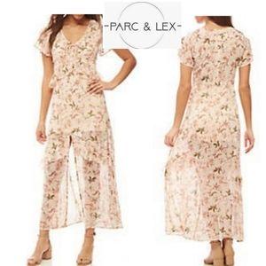 PARC & Lex floral maxi dress.  Sz Lrg